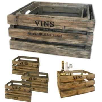 3er Set dekorative Weinkisten im Landhausstil-6