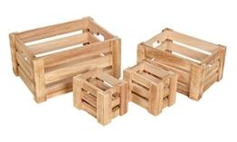 4er Set dekorative Holzkisten in 3 verschiedenen Größen-2