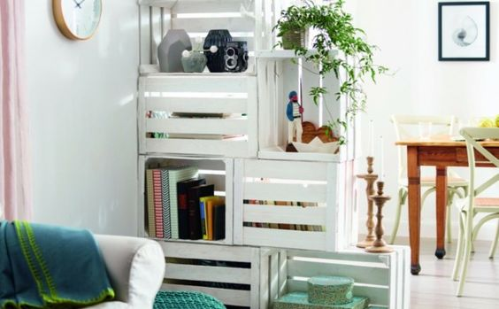 weinkisten wei wei e obstkisten deko ideen shop. Black Bedroom Furniture Sets. Home Design Ideas