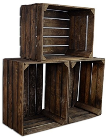 ᐅ Obstkisten Sets 1-3 - Gebrannt - alte Weinkisten - Holzkisten - Shop