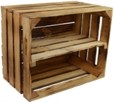 Vintage Holzkiste mit Ablage - Regal -2