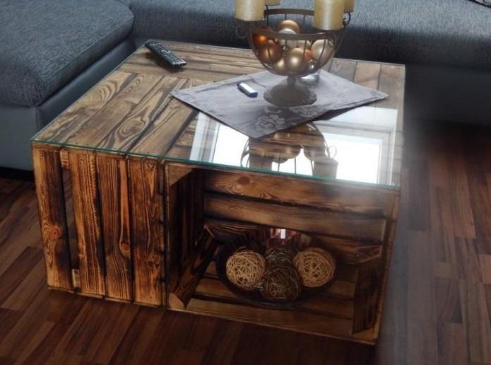 Weinkisten Möbel Tisch