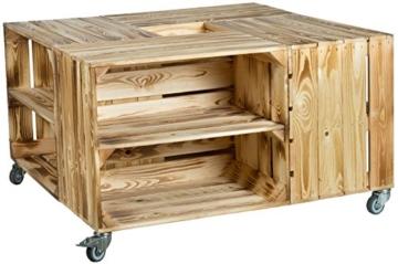 obstkisten tisch mit rollen zwischenbrett. Black Bedroom Furniture Sets. Home Design Ideas
