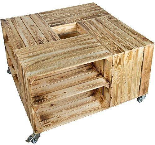 Obstkisten Möbel ᐅ obstkisten tisch mit rollen zwischenbrett weinkisten möbel shop