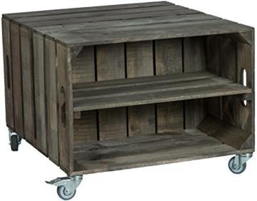 obstkisten tisch mit rollen ablage holzkisten. Black Bedroom Furniture Sets. Home Design Ideas